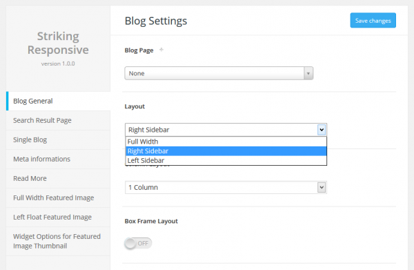 Global SinglePost Layout Settings